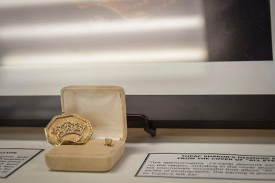 """Jewelry plays a significant role in Tupac Shakur's story, according to Aaron Smith, a professor at Temple University, who says, """"To have some of (it) here means a whole lot."""""""