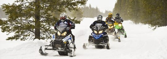 Snowmobiling in Gaylord, MI is a popular winter activity.