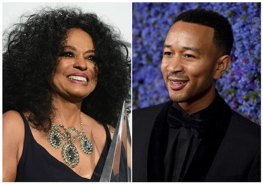 Diana Ross and John Legend will be among the stars celebrating at Macy's Thanksgiving Day Parade in New York City on Nov. 22.