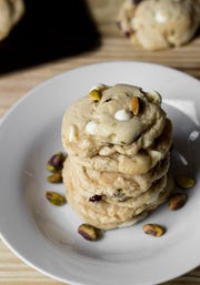 The Kentucky Gent Cranberry White Chocolate Chip Pistachio Cookies