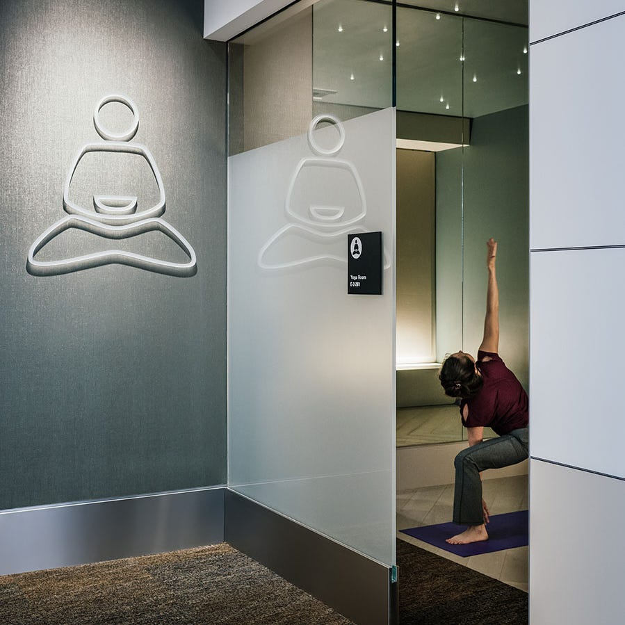 A yoga room at San Francisco International Airport.