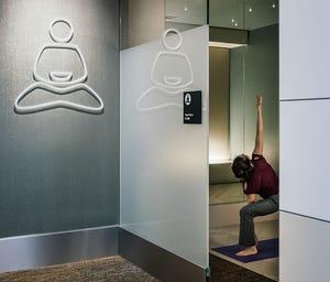 A yoga room at San Francisco International Airport.
