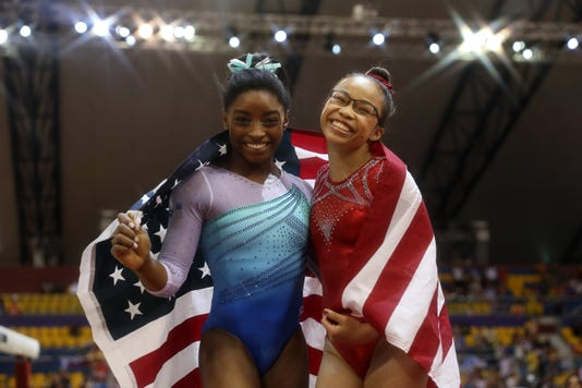 Both Talent and Dedication: Simone Biles makes history as first woman to win four all-around world titles