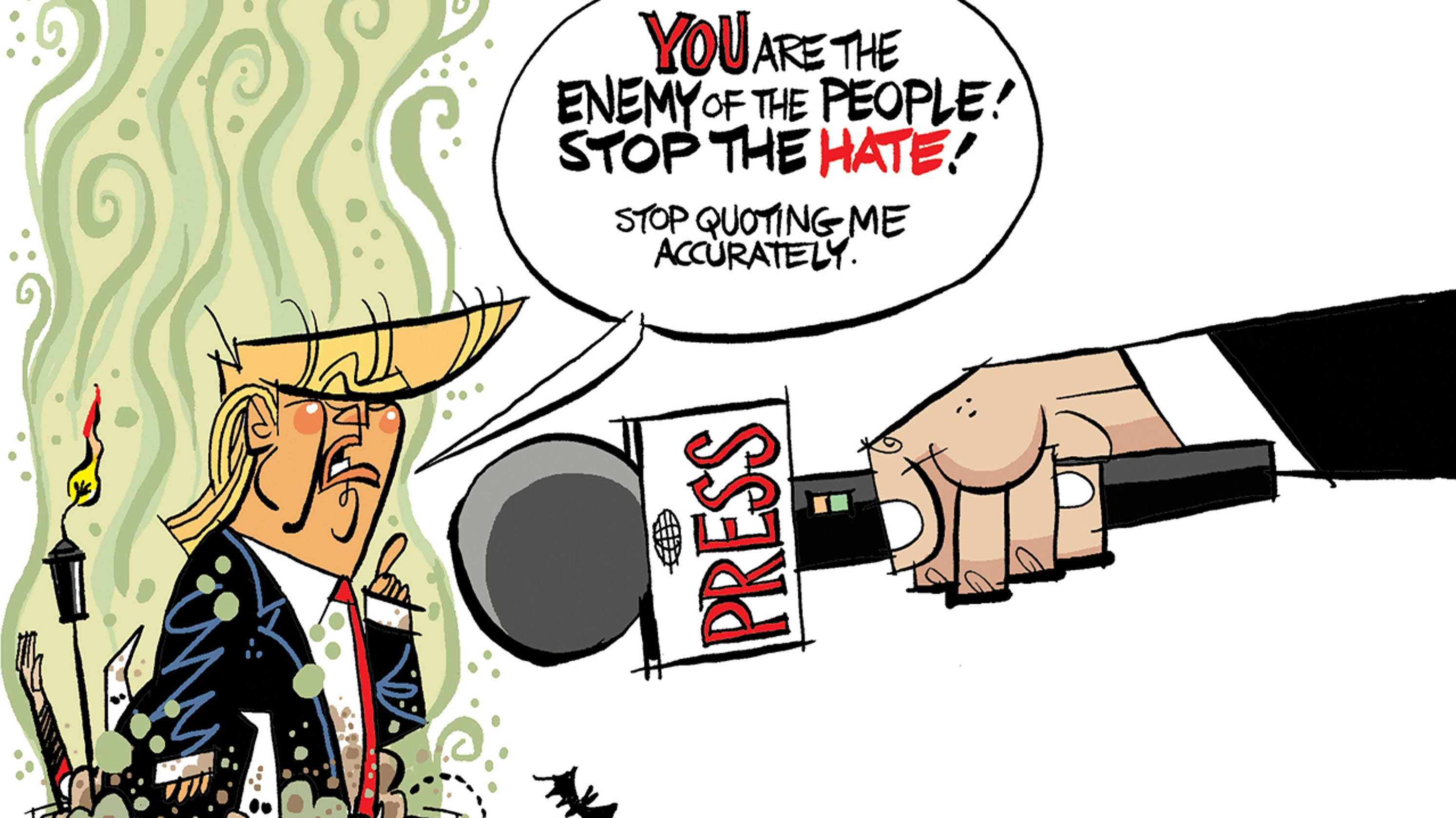 Image result for cartoons people divided trump