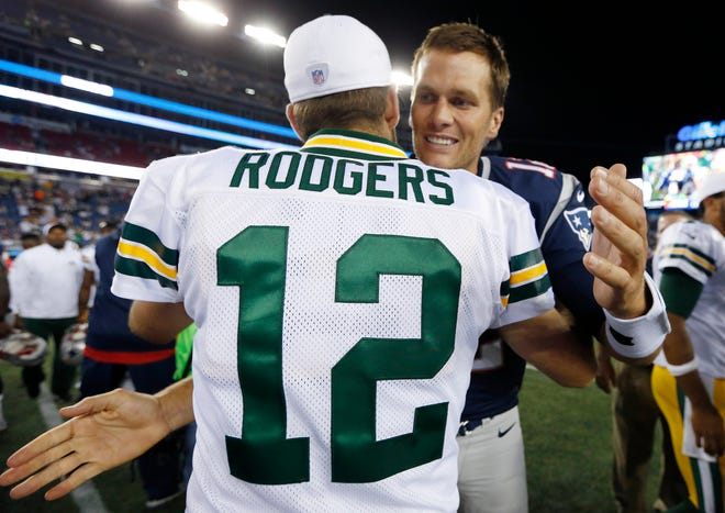 Aaron Rodgers and Tom Brady will square off for just the second time ever on Sunday night.