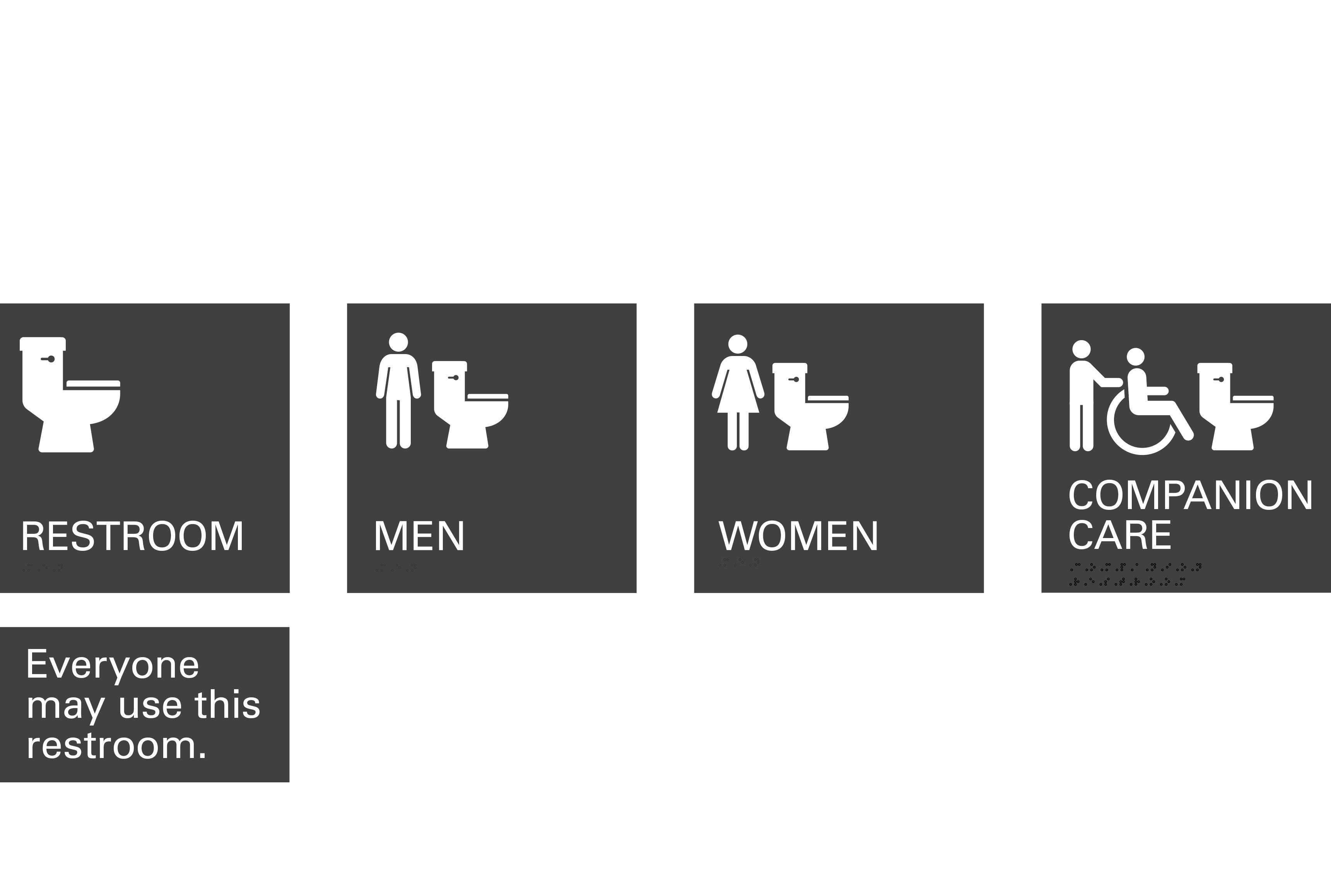 Gensler is developing a symbol for all-gender, multi-stall restrooms.