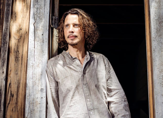 Chris Cornell poses for a portrait in Agoura Hills, Calif., in July 2015.