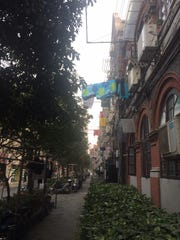 Old Jewish quarter of Shanghai. With the outbreak of World War II, Japanese troops took control of the city, and most of the Jews were forced into what became known as the Shanghai ghetto.