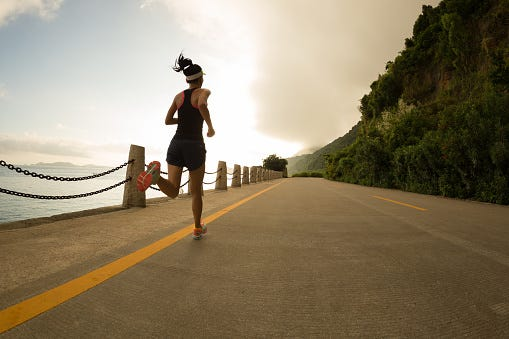 Running burns more calories than cycling, but it's harder on your body.
