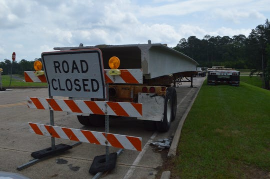 The Louisiana Department of Transportation and Development works on an exit ramp off U.S. Highway 167 in 2014. Transportation officials fear the state's poor infrastructure will only get worse given current funding limitations.