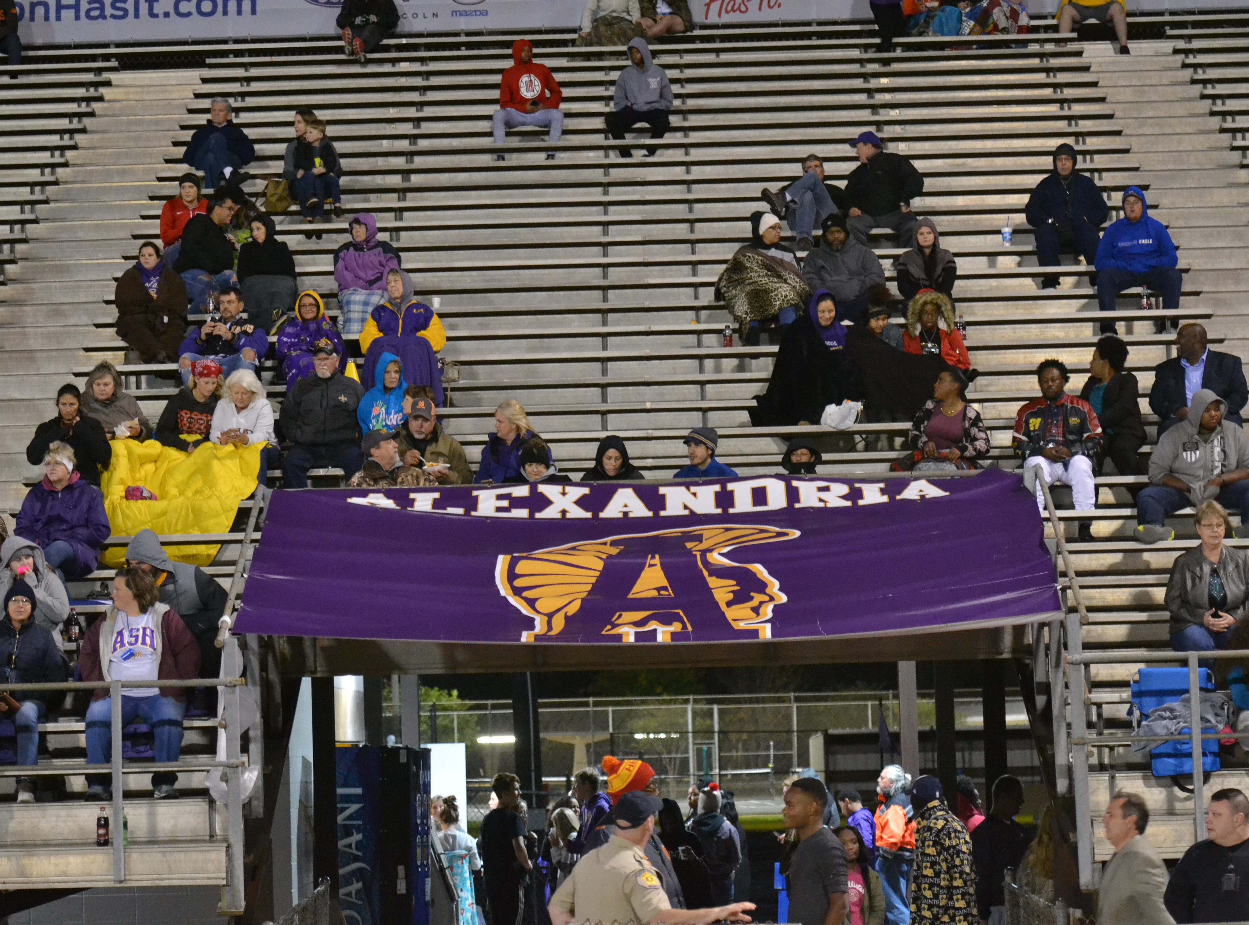 It was definitely blanket and coat weather Thursday night at Alexandria Senior High. The ASH Trojans fell to the Ouachita Parish Lions 42-20 Thursday, Nov. 1, at Alexandria Senior High.