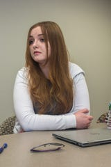 Brookdale Community College student Payge Hardy, sophomore, discusses the midterm election