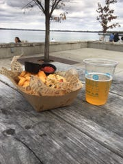 Important Wisconsin beer and bratwurst research took place on Friday afternoon at Lake Mendota