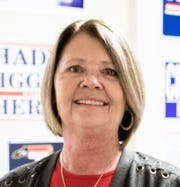 Angela Phillips, a volunteer with the Buncombe County Republican Party, at the party headquarters in Asheville, Oct. 30, 2018.