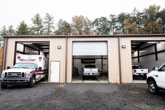 Weaverville Tire & Wheel's new location down the road from their old shop which burned down early in the morning Oct. 26, 2018.