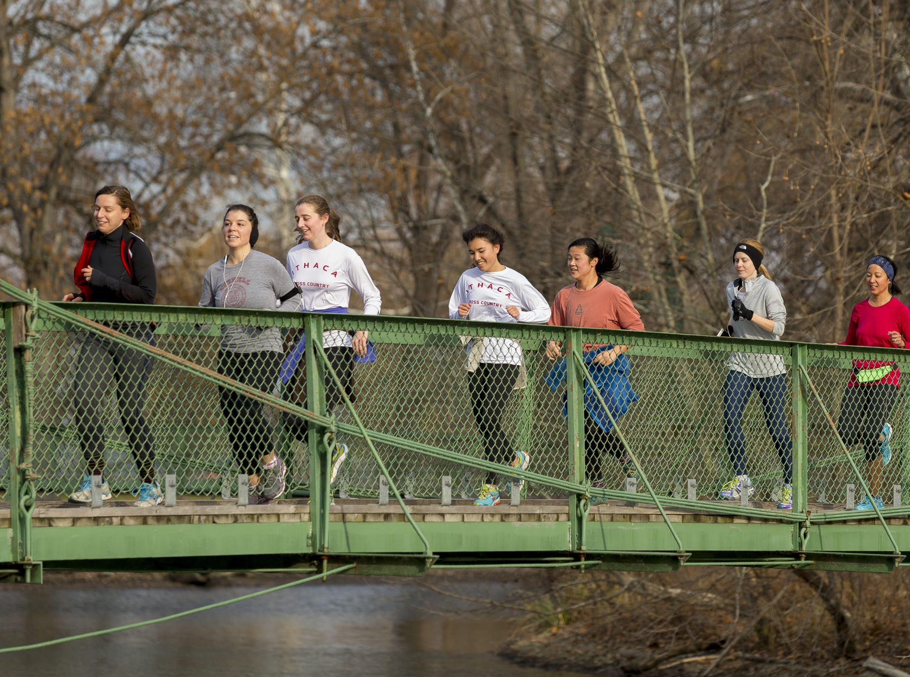 From 2015: Runners cross from the Fuertes Bird Sanctuary to Newman Golf Course on Thursday morning during the 43rd Annual Turkey Trot Prediction Run in Ithaca.