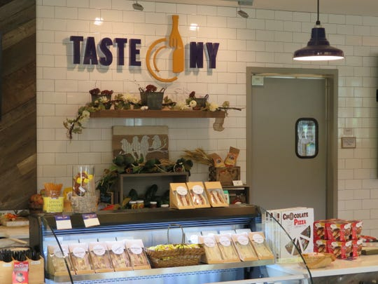 The Taste NY store at the Interstate 81 Southern Tier Welcome Center a few miles north of the Pennsylvania border. October 2018.