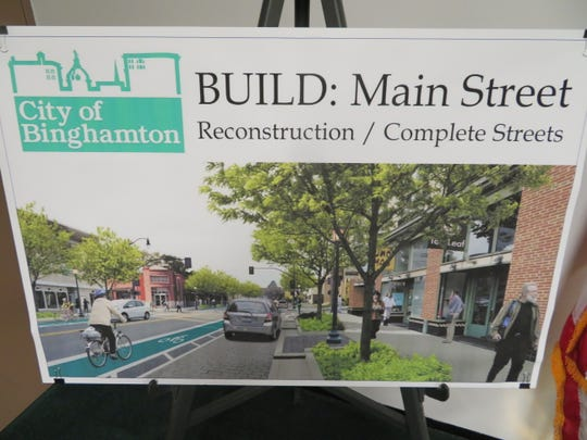 An artist's rendering of the proposed $15 million Main Street corridor project.