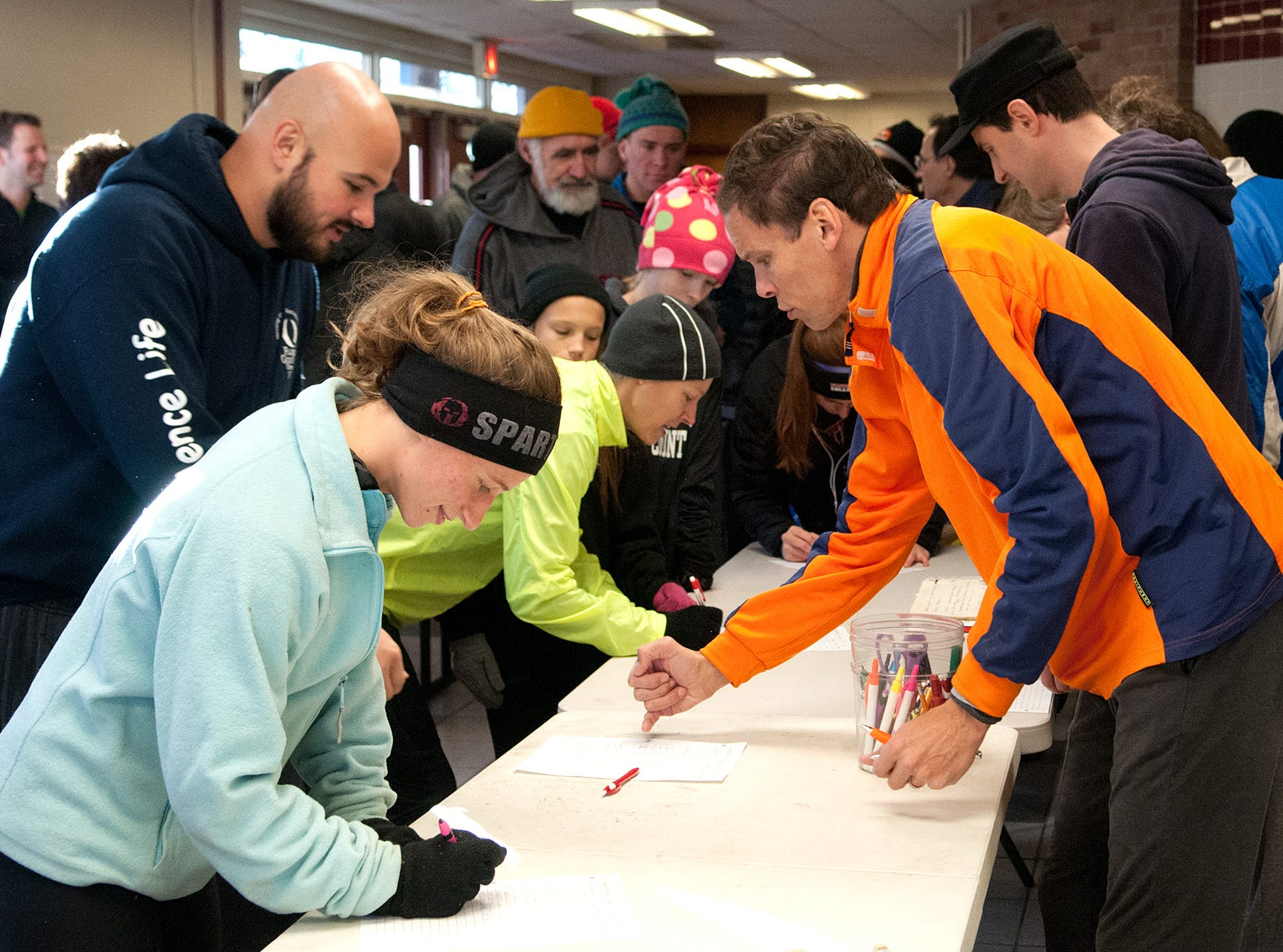 From 2013: There were 294 runners who signed up at Ithaca High School before the 41st annual Thanksgiving Day Turkey Trot.
