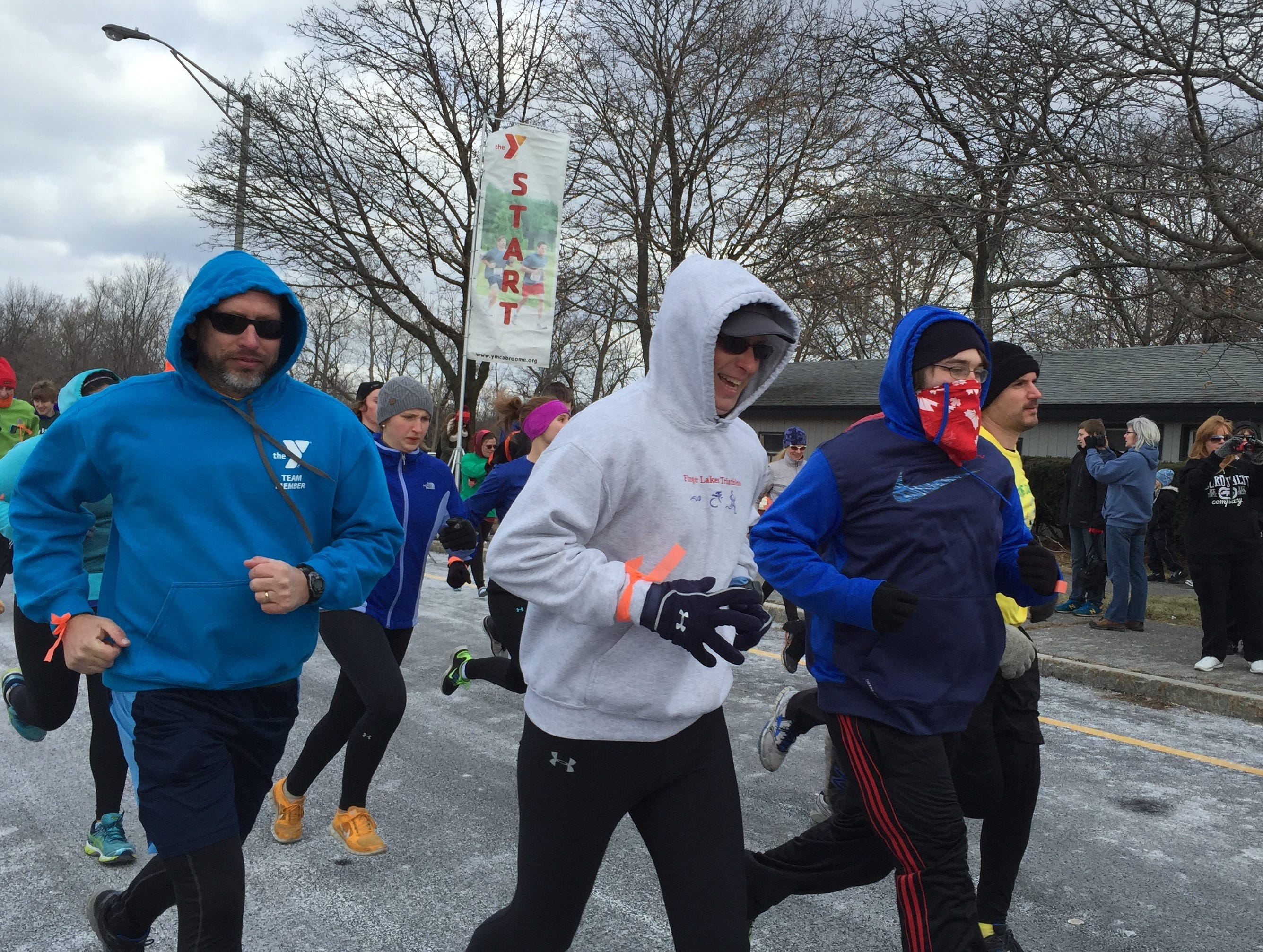 From 2015: More than 100 people braved the frigid weather on Wednesday to participate in the YMCA New Year's Resolution Run at Otsiningo Park.