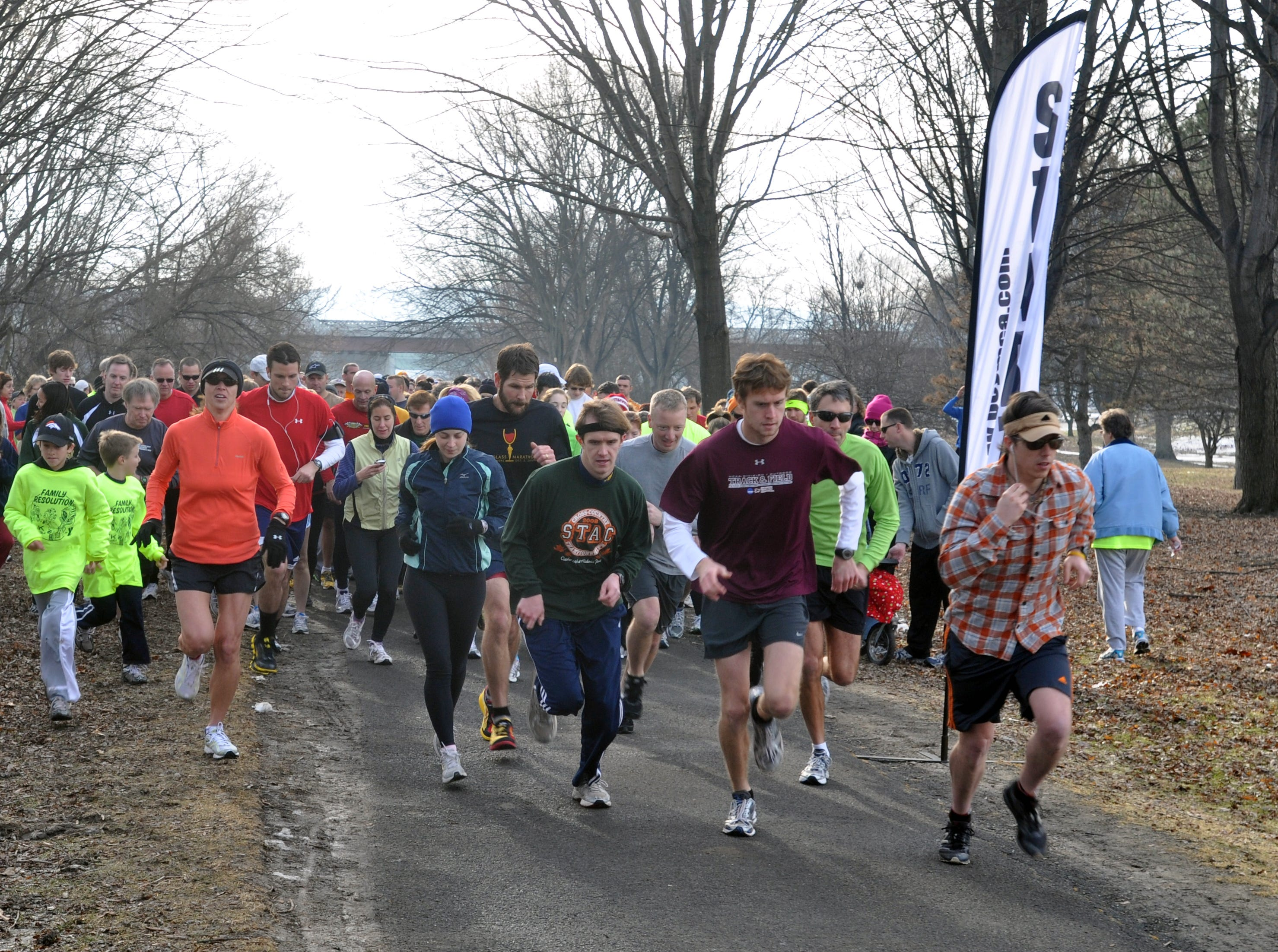 About 250 people participated in the 2010  Family Resolution 5K Fun Run/Walk in Otsiningo Park in the Town of Dickinson. The run, sponsored by the YMCA and Lourdes Hospital, is meant to promote family health and wellness.