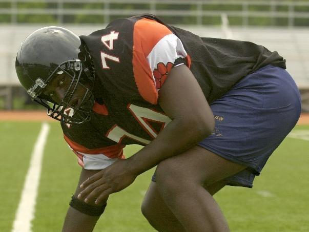 From 2004: Arthur Jones, 18, Union-Endicott High School defensive tackle.