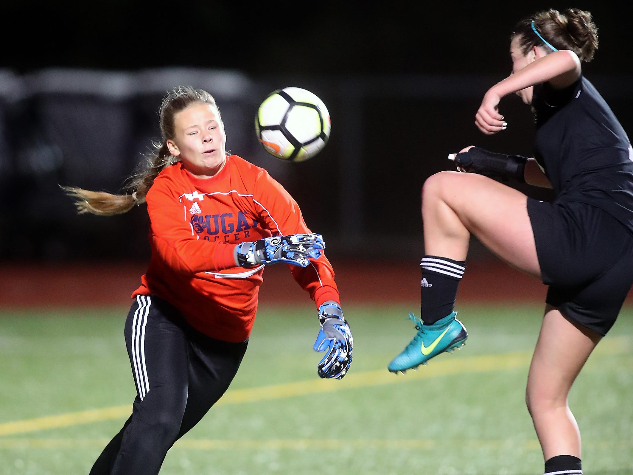 Klahowya vs Cascade Christian girls soccer at Silverdale Stadium on Thursday, November 1, 2018.