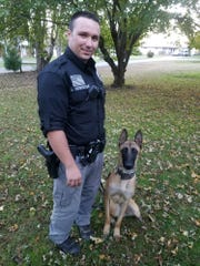 Logan Newhouse and his partner Cayman worked their first shift together for the Black Mountain Police Department on Oct. 29.