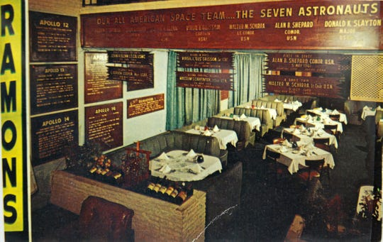 Apollo-era eatery: This appears to be a copy of a postcard advertising popular nightspot Ramon's in Cocoa Beach.