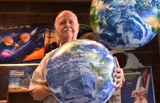 Charlie Mars was a NASA power and sequential systems engineer when hired in 1965, and worked on the Mercury, Gemini, Apollo and space shuttle programs. He's now on the board of directors of the American Space Museum in Titusville, where he's pictured in the play room.