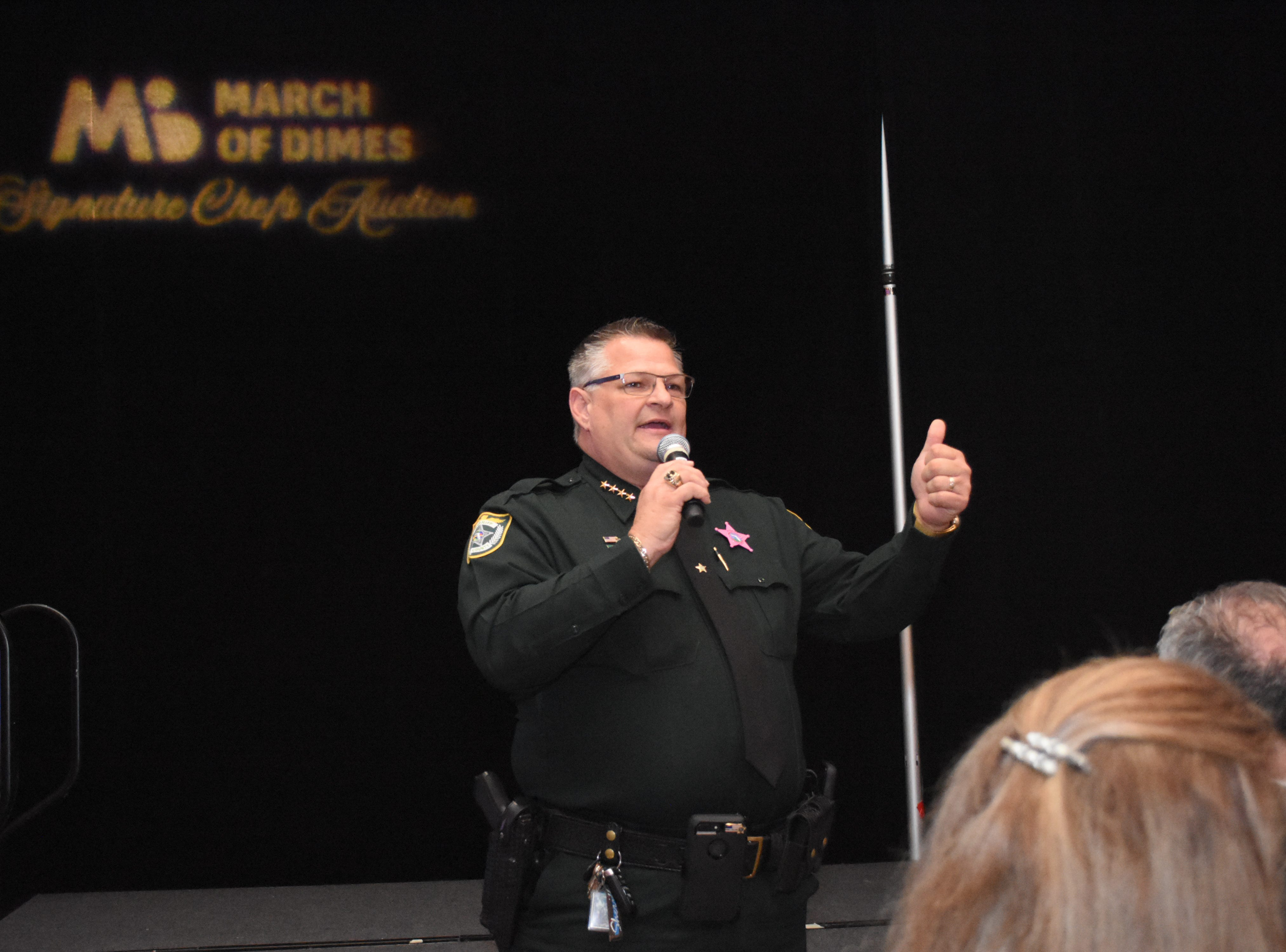 Sheriff Wayne Ivey was 2018's auctioneer at the March of Dimes Signature Chefs Auction.