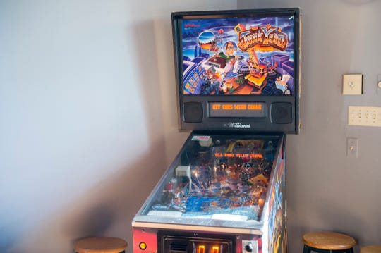 A pinball machine at BT Restaurant and Tavern in Burlington, N.J.