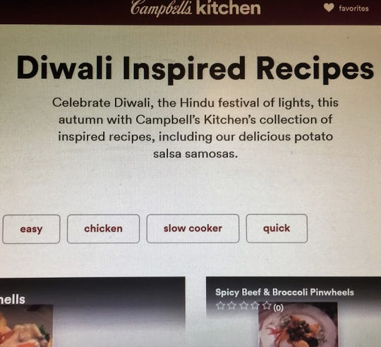 A Hindu group wants an apology from Campbell Soup Co. over a Diwali-inspired recipe.