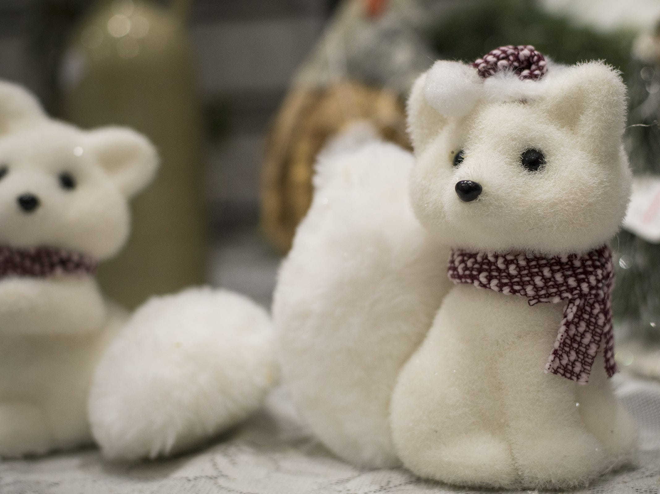 Caroline Collectibles offers holiday decorations and knick-knacks during the Greater Cincinnati Holiday Market at the Duke Energy Center Friday, November 2, 2018 in Cincinnati, Ohio.