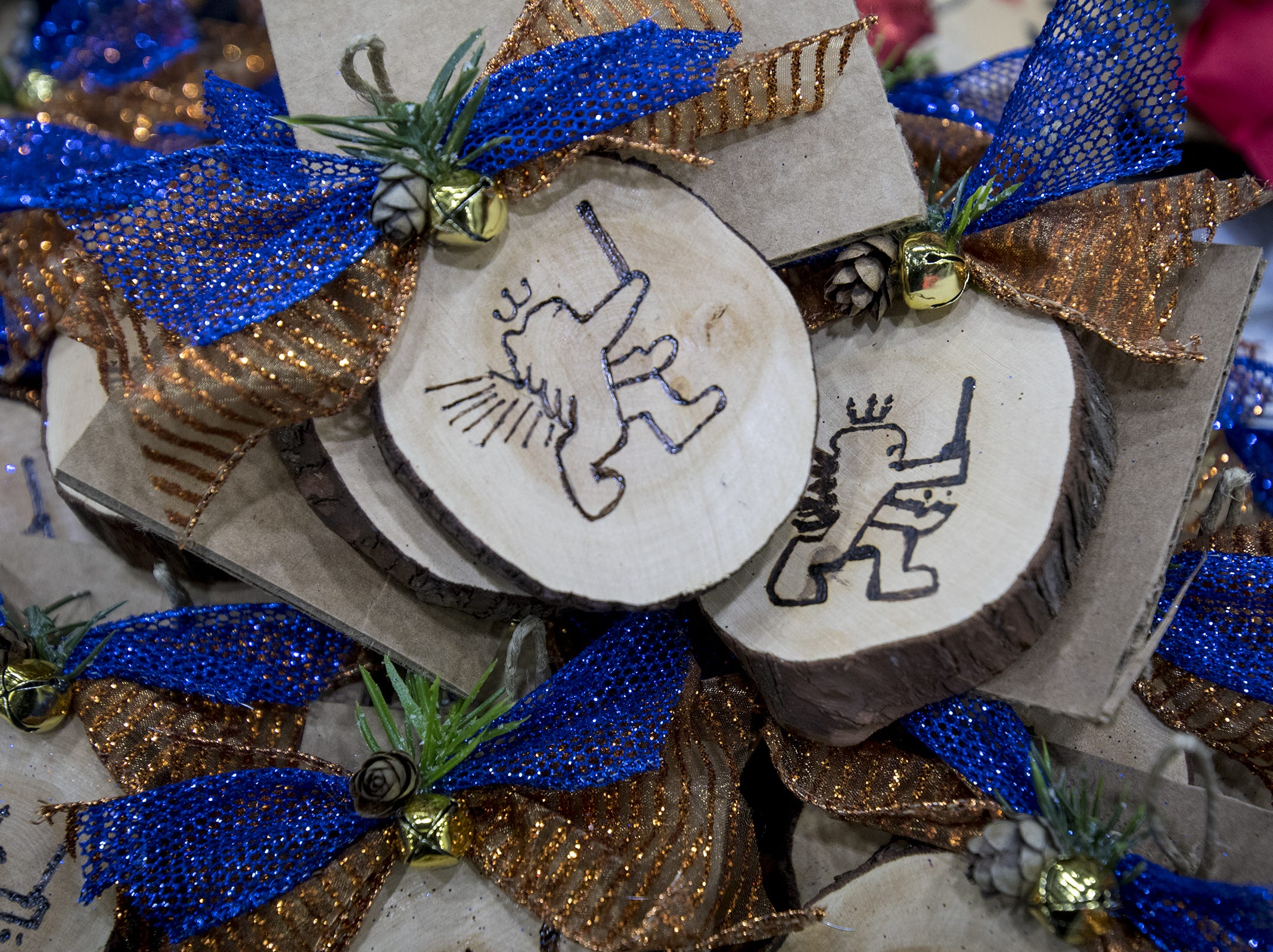 Cincinnati Beer Soap sells Cincinnati-themed ornaments as well as candles and other items during the Greater Cincinnati Holiday Market at the Duke Energy Center Friday, November 2, 2018 in Cincinnati, Ohio.