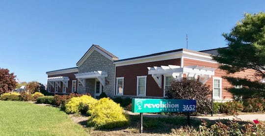 The new transportation center for the Forest Hills Local Schools is on four acres of property on Round Bottom Road in Newtown. It includes this office building, pictured Nov. 1, 2018, where Revolution Fitness says it will be operating until Dec. 1.