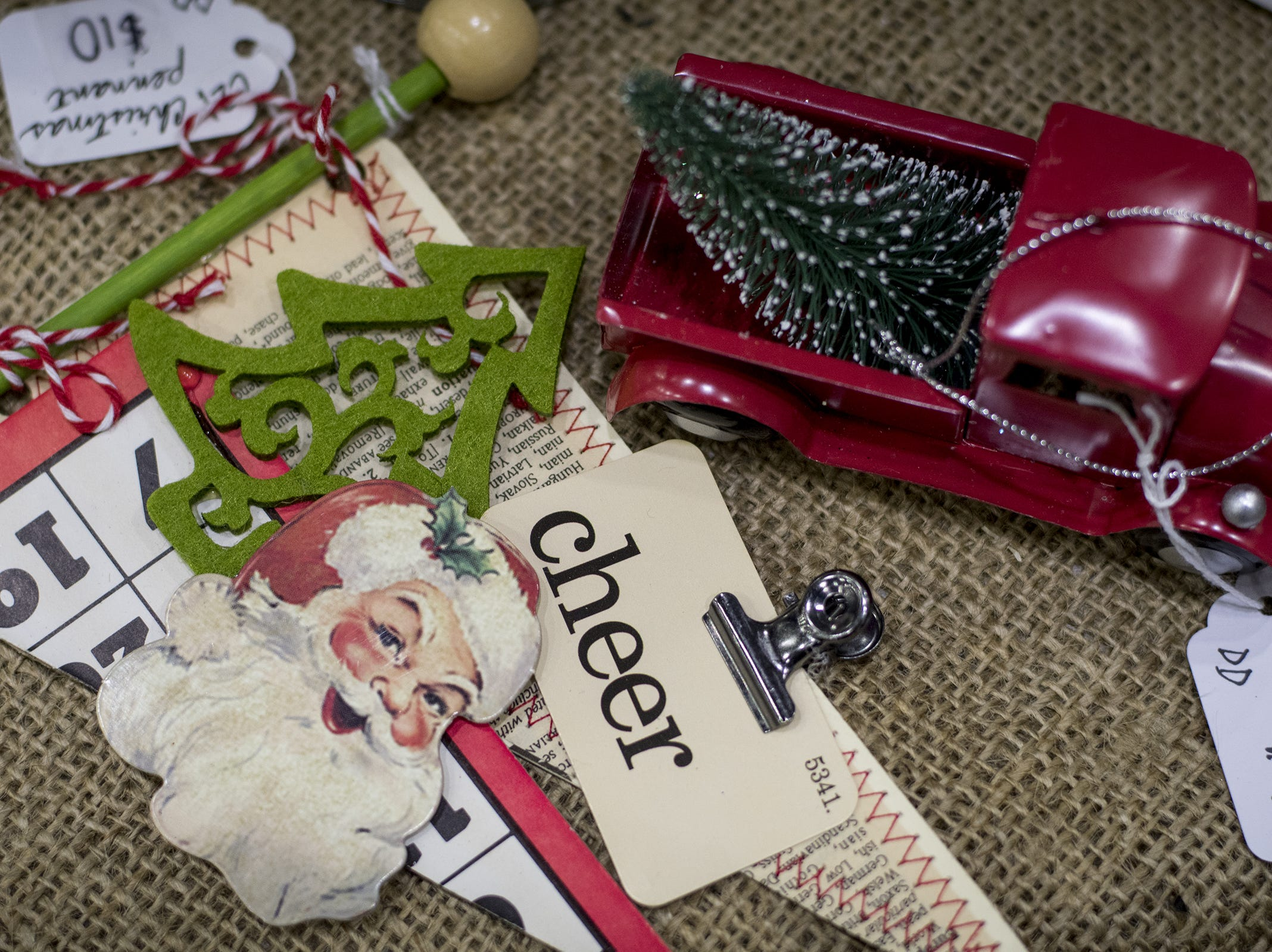 Once and Again Designs sell holiday knick-knacks and decorations during the Greater Cincinnati Holiday Market at the Duke Energy Center Friday, November 2, 2018 in Cincinnati, Ohio.