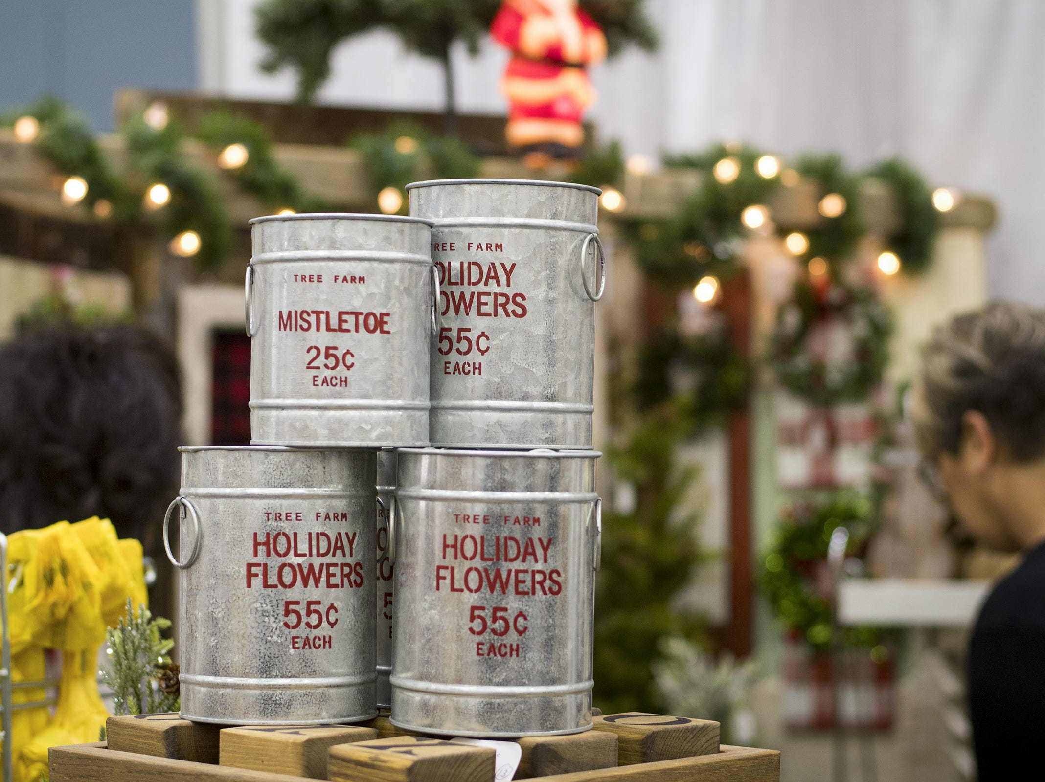The YH Designs sells holiday decorations during the Greater Cincinnati Holiday Market at the Duke Energy Center Friday, November 2, 2018 in Cincinnati, Ohio. The event runs through Sunday, November 4.