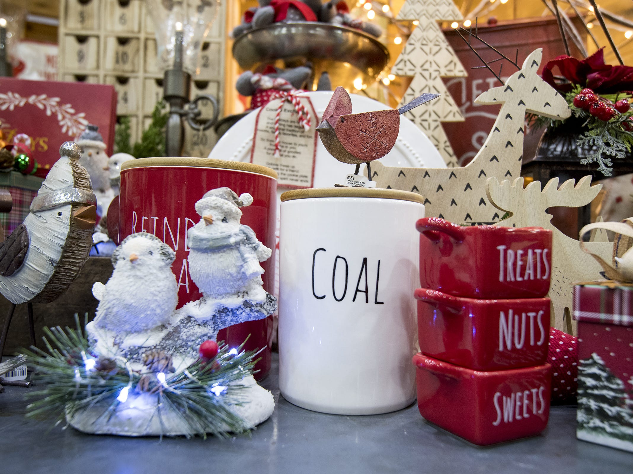 Flourish Home sells tons of holiday decorations during the Greater Cincinnati Holiday Market at the Duke Energy Center Friday, November 2, 2018 in Cincinnati, Ohio.