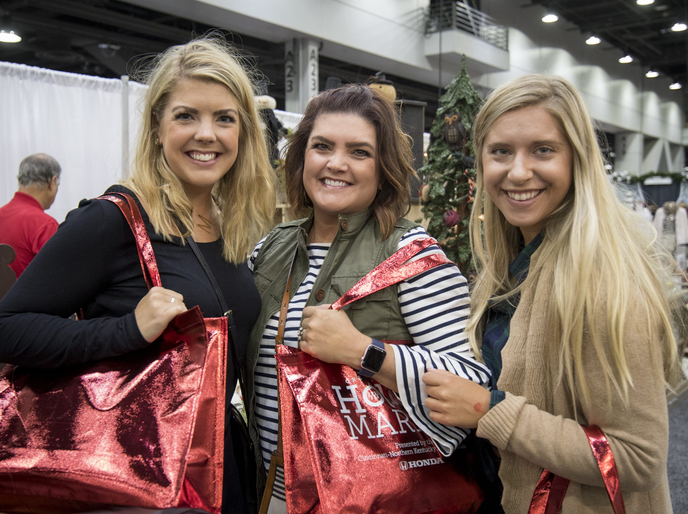 Mallory Webb, Jamie Webb and Molly Sellers take advantage of VIP entry during the Greater Cincinnati Holiday Market at the Duke Energy Center Friday, November 2, 2018 in Cincinnati, Ohio. The event runs through Sunday, November 4.