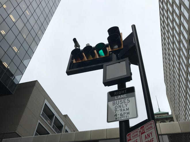 Cincinnati's bus-only lane is on Main Street, from Government Square to Central Parkway.