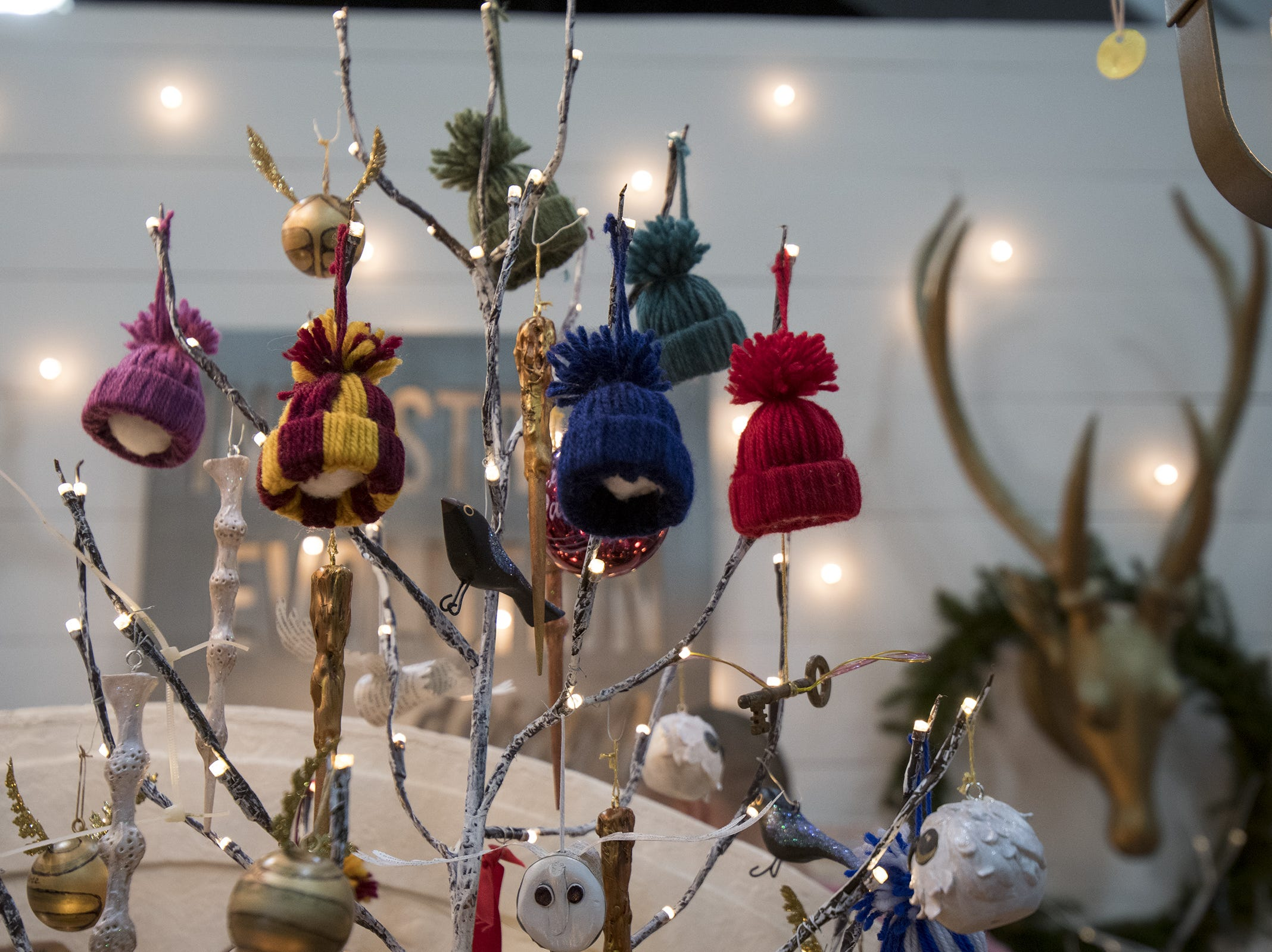 Industrial Evolution Design sells Harry Potter-themed ornaments and gifts during the Greater Cincinnati Holiday Market at the Duke Energy Center Friday, November 2, 2018 in Cincinnati, Ohio.