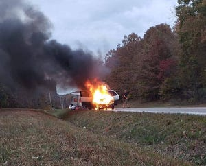 An image of a military family's vehicle catching fire while they were moving from Fort Campbell was posted on USAWTFM's Facebook page and within minutes thousands of dollars were raised to help them.