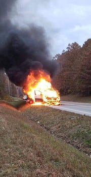 A military family moving from Fort Campbell to Fort Bliss had their vehicle catch fire shortly after leaving their home. After USAWTF posted these images on its Facebook sites, donors flooded the family with thousands of dollars to help them get back on their feet.