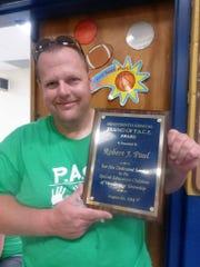 Robert Paul, Sewaren being honored with a P.A.C.E. award.