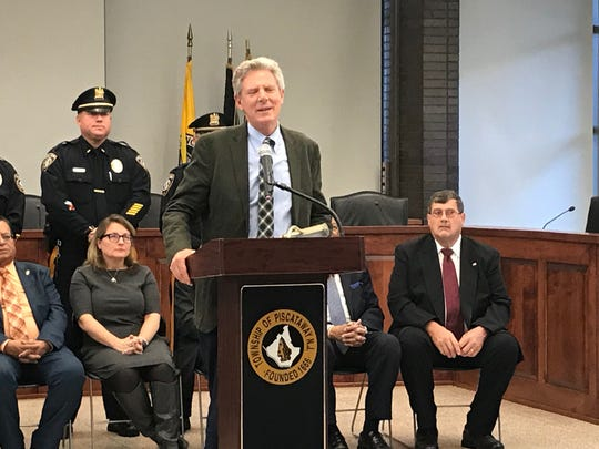 U.S. Rep. Frank Pallone Jr. congratulated the township on its efforts to get a ban of commercial trucks on River Road in Piscataway.