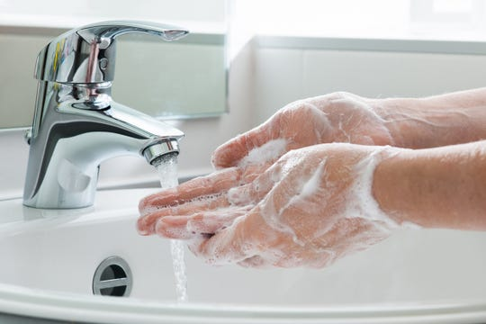 When washing hands, be sure to use soap and water and scrub for at least 20 seconds.