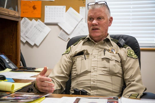 Davis County Sheriff Dave Davis says a lengthy investigation revealed no signs of foul play. Sheriff Davis is shown here in Bloomfield, Iowa, Thursday, Nov. 1, 2018.