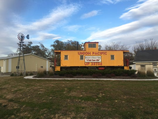 A Union Pacific caboose greets visitors of Missouri Valley, an old train town that sits in the far southwest corner of Iowa's Fourth Congressional District.