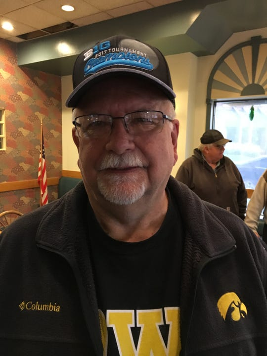 William Kersting, a retired mental health worker who supports U.S. Rep. Steve King.